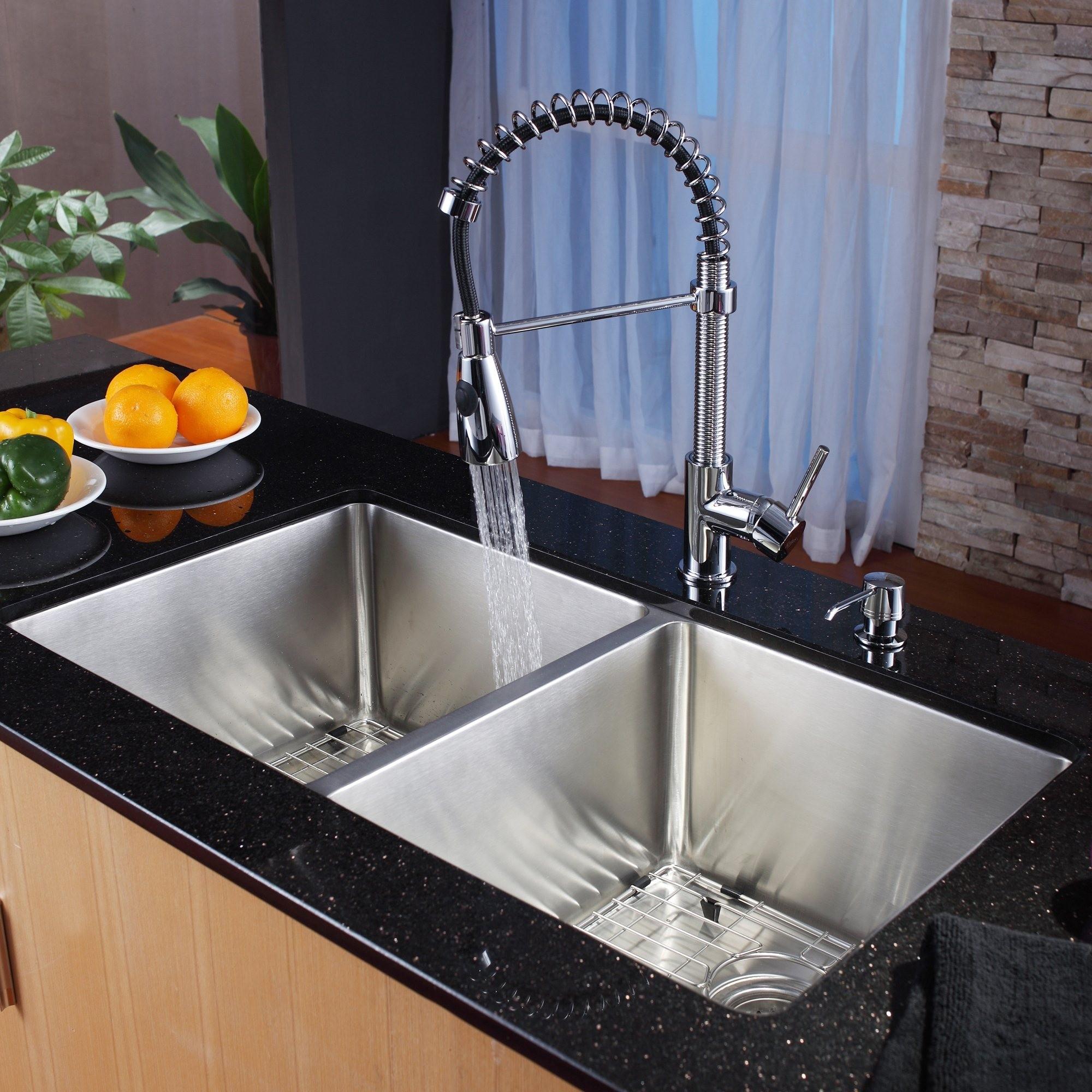 Ideas, undermount kitchen sink and faucet combo undermount kitchen sink and faucet combo stainless steel kitchen sink combination kraususa 2000 x 2000 1  .