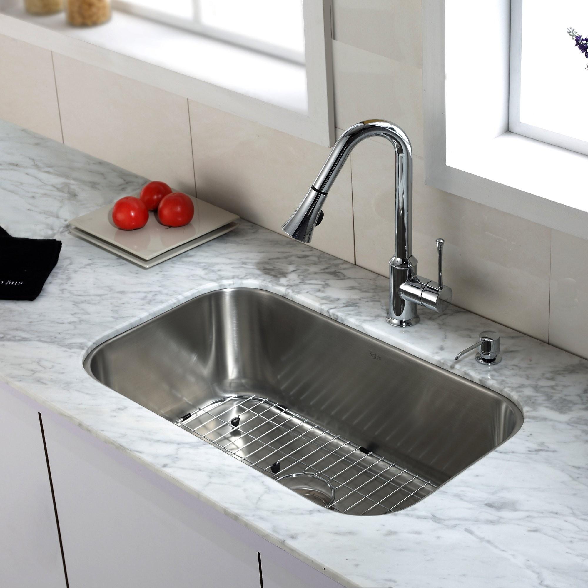 Ideas, undermount kitchen sink and faucet combo undermount kitchen sink and faucet combo stainless steel kitchen sink combination kraususa 2000 x 2000 3  .
