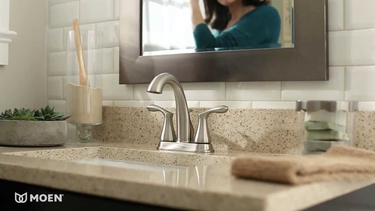 Ideas, varese high arc centerset bathroom faucet moen features pertaining to proportions 1280 x 720  .