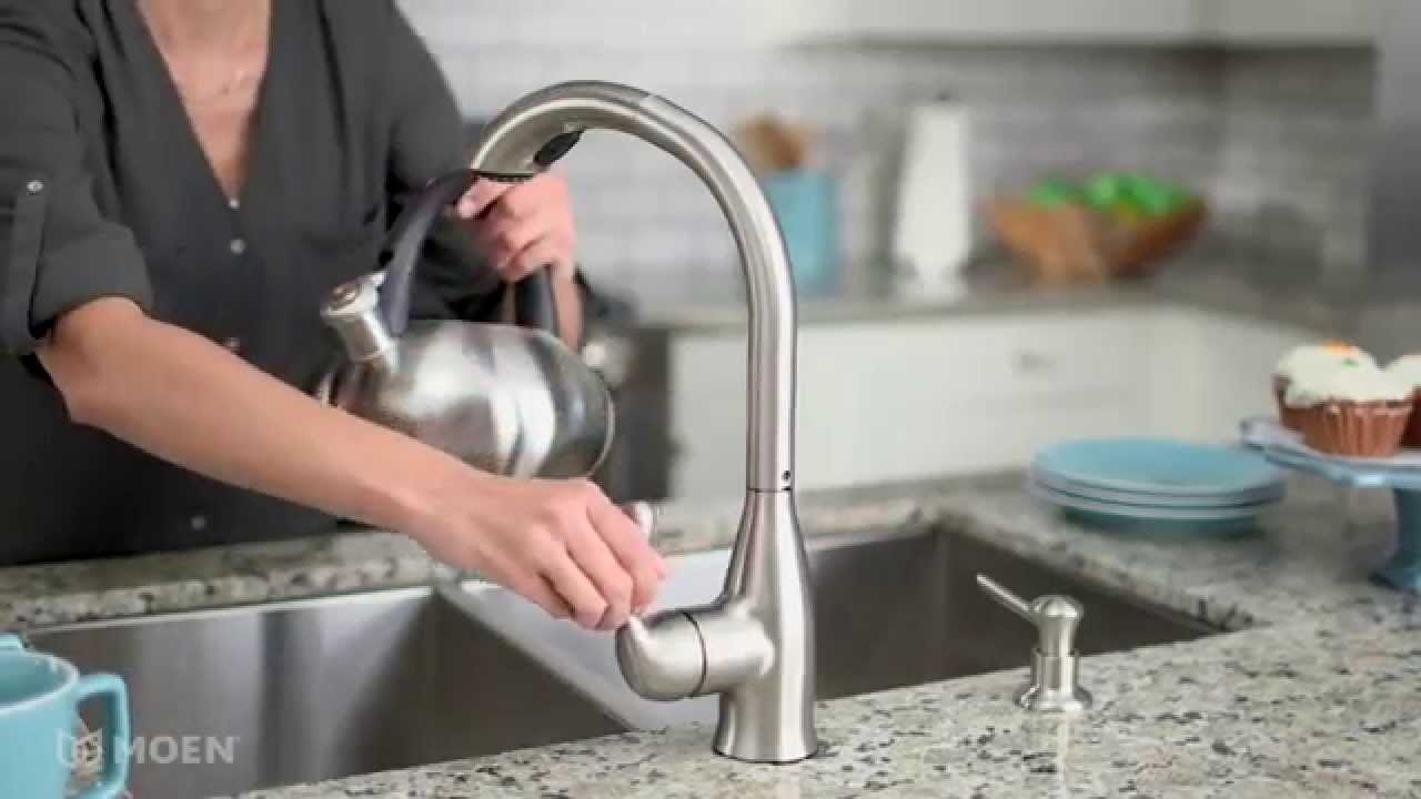 Ideas, varese spot resist stainless pullout kitchen faucet moen within sizing 1280 x 720  .