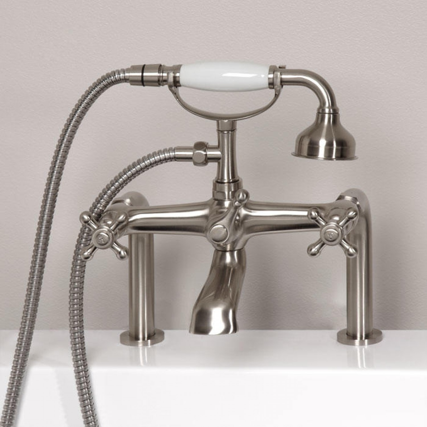 Ideas, vera deck mount tub faucet and hand shower bathroom with dimensions 1500 x 1500  .