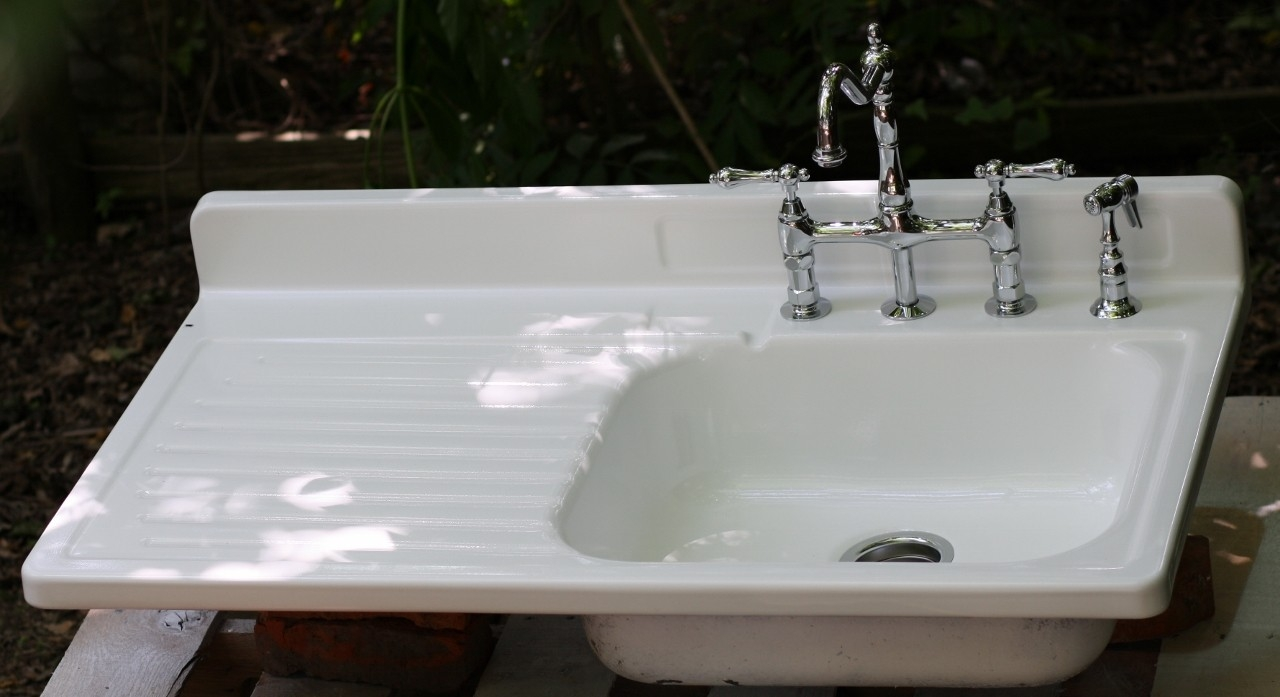 Ideas, vintage farmhouse drainboard sinks best sink decoration within sizing 1280 x 697  .