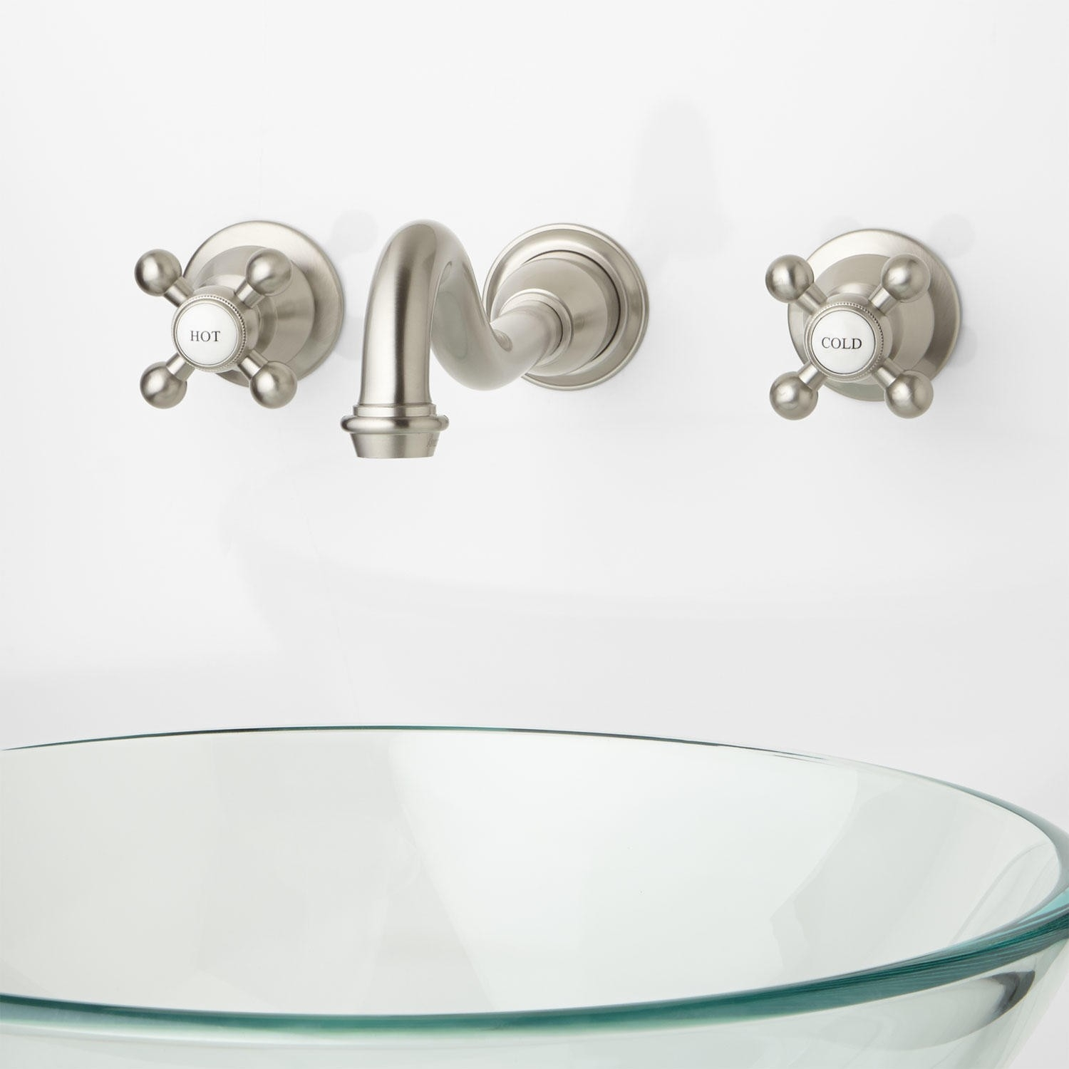 Ideas, vintage wall mounted vessel sink faucet with double cross handles vintage wall mounted vessel sink faucet with double cross handles bathroom faucets lavatory faucets signature hardware 1500 x 1500 1  .