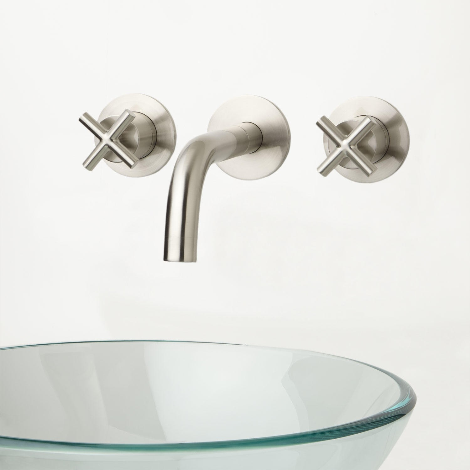 Ideas, vintage wall mounted vessel sink faucet with double cross handles vintage wall mounted vessel sink faucet with double cross handles bathroom faucets lavatory faucets signature hardware 1500 x 1500  .
