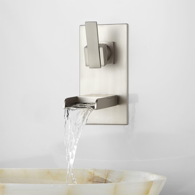 Ideas, wall mount down spout vessel sink faucet wall mount down spout vessel sink faucet willis wall mount bathroom waterfall faucet bathroom 1500 x 1500  .