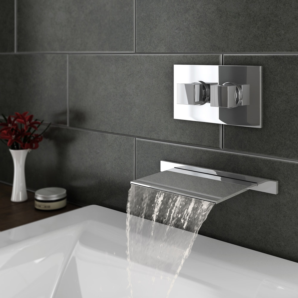 Ideas, wall mount waterfall faucet for tub wall mount waterfall tub in proportions 1000 x 1000  .