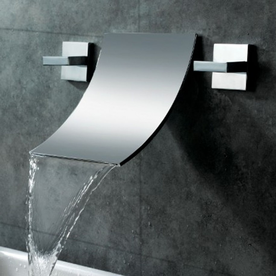Ideas, wall mounted waterfall shower faucet wall mounted waterfall shower faucet bathroom fabulous waterfall faucet for bathroom 915 x 915  .