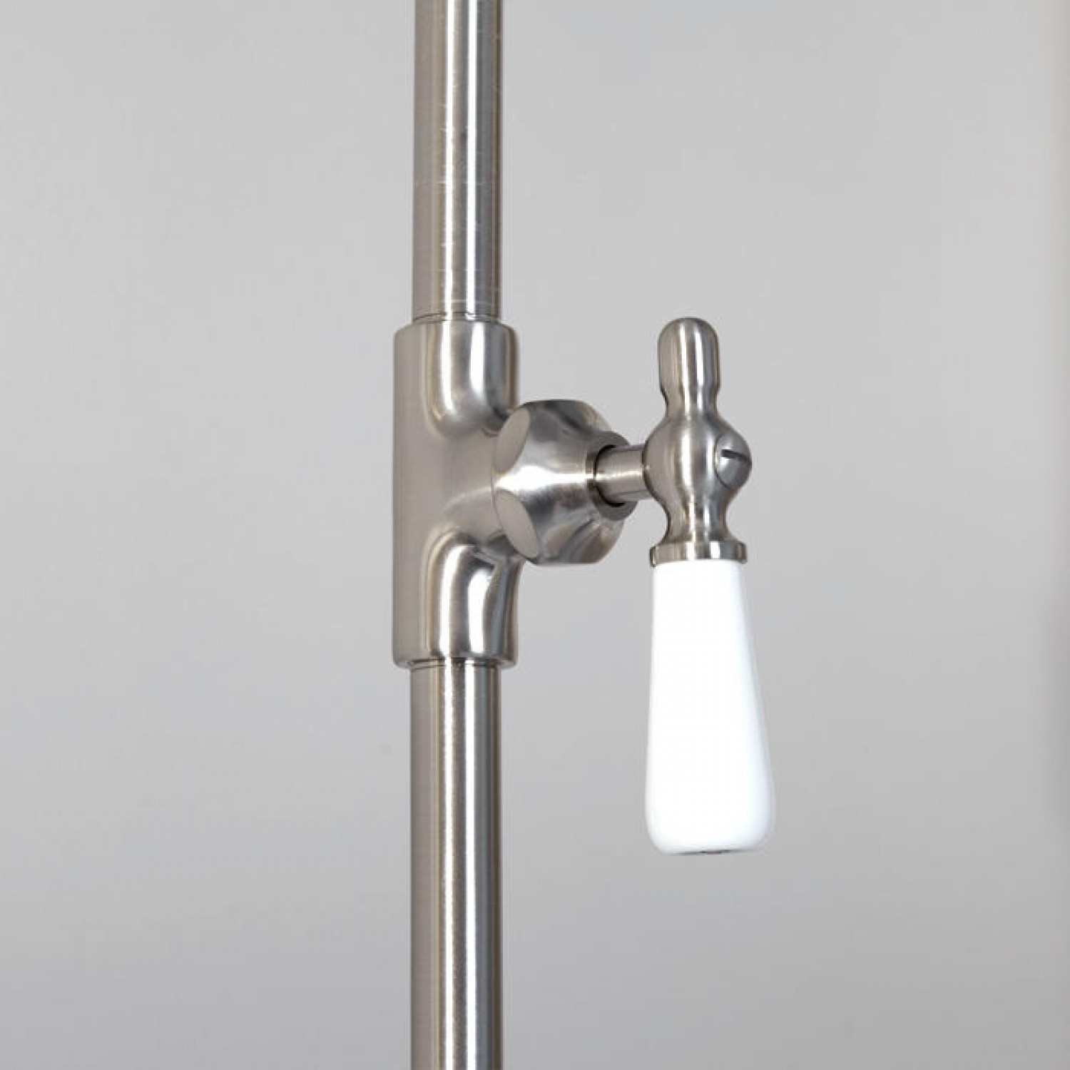 wall shower set with exposed pipe riser and tub filler bathroom with dimensions 1500 x 1500
