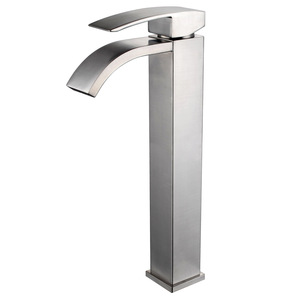 Ideas, waterfall bathroom faucet brushed nickel single handle lavatory intended for sizing 1000 x 1000  .