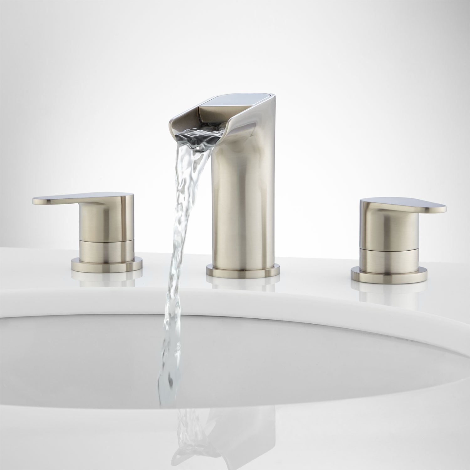 Ideas, waterfall bathroom faucets signature hardware inside proportions 1500 x 1500  .