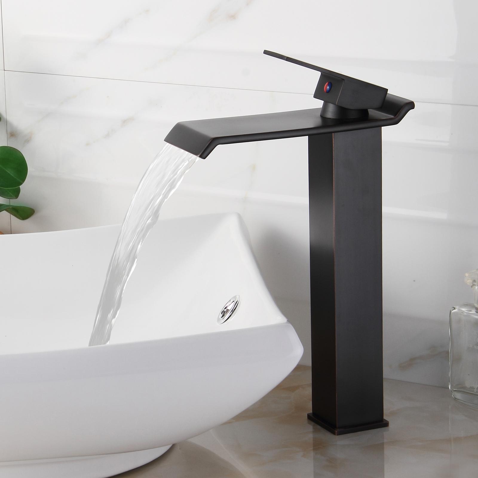 Ideas, waterfall vessel sink bathroom faucet waterfall vessel sink bathroom faucet elite 8818orb oil rubbed bronze waterfall vessel sink faucet 1600 x 1600  .
