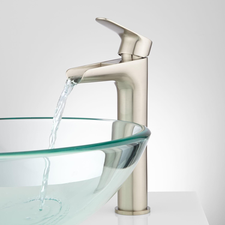 waterfall vessel sink bathroom faucet waterfall vessel sink bathroom faucet pagosa waterfall vessel faucet bathroom 1500 x 1500