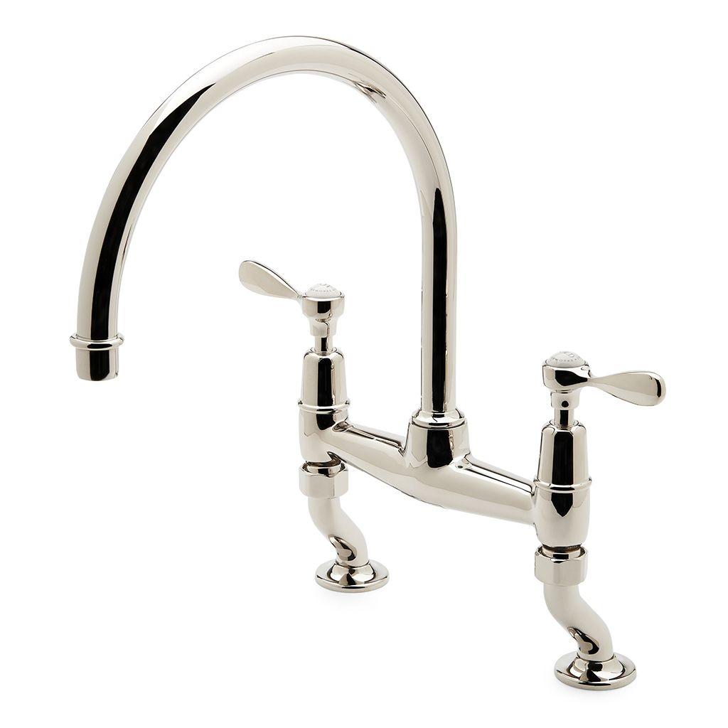 waterworks easton kitchen faucet waterworks easton kitchen faucet discover easton classic two hole bridge gooseneck kitchen faucet 1024 x 1024 1