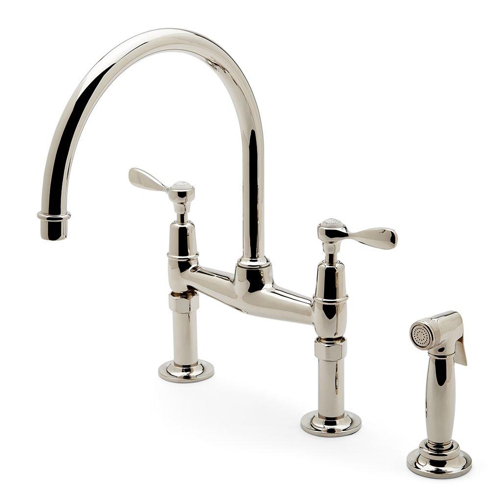 Ideas, waterworks easton kitchen faucet waterworks easton kitchen faucet discover easton classic two hole bridge gooseneck kitchen faucet 1024 x 1024  .