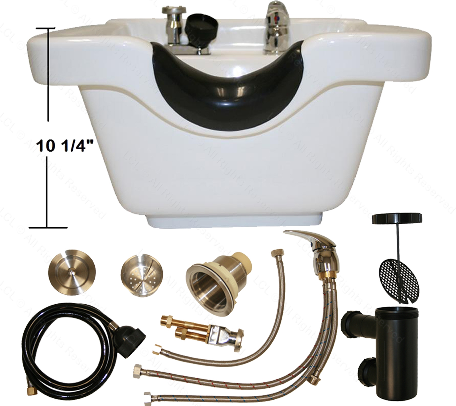Ideas, white ceramic shampoo bowl sink barber vacuum breaker beauty spa with regard to proportions 1600 x 1425  .