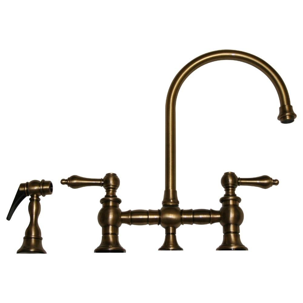 Ideas, whitehaus vintage iii bridge style kitchen sink faucet with side for dimensions 1000 x 1000  .
