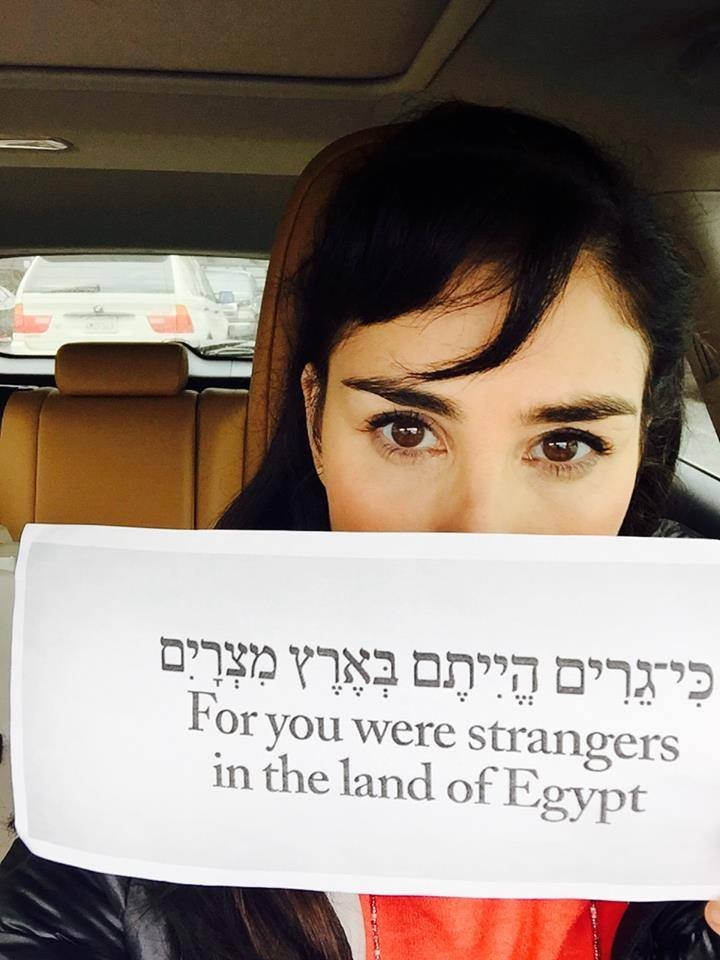 Sarah Silverman shares a piece of Torah in support of Rabbis for Human Rights' trip to Holot