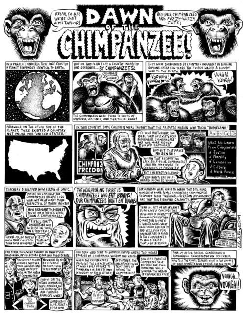 """""""Dawn of the Chimpanzees"""" by Eli Valley"""