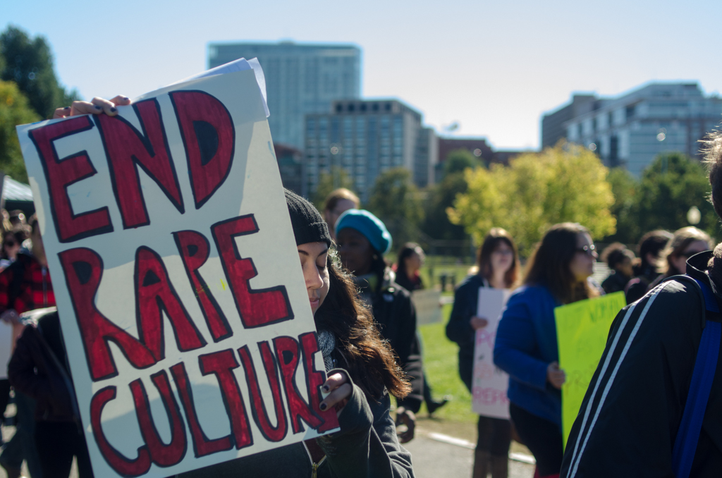 End Rape Culture protest sign, by Flickr user Chase Carter