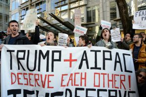 If Not Now protest of Donald Trump at AIPAC conference 2016 in Washington, DC, photos copyright Gili Getz 2016.