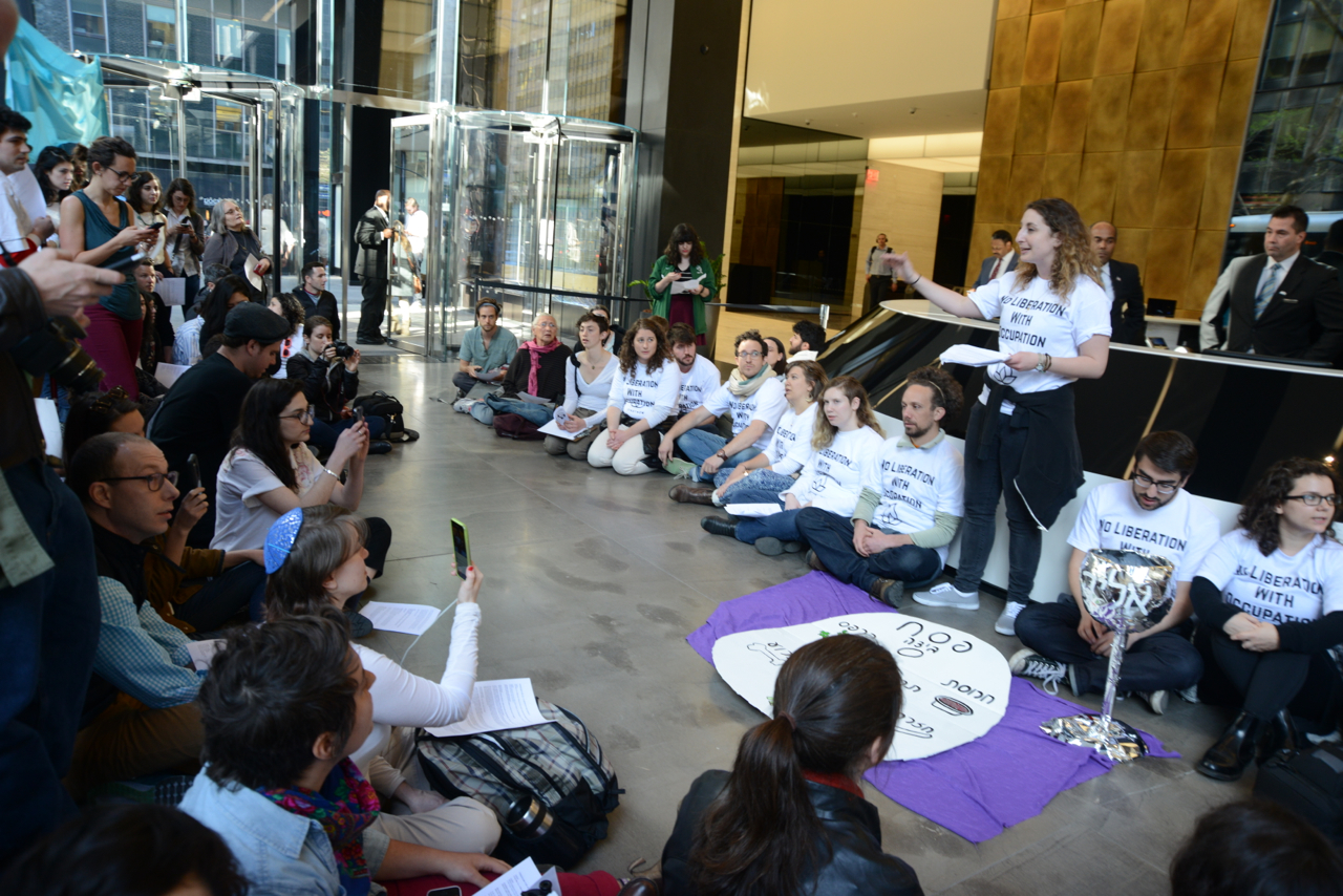 #IfNotNow #LiberationSeder in NY at the offices of the Anti-Defamation League, photo credit Gili Getz
