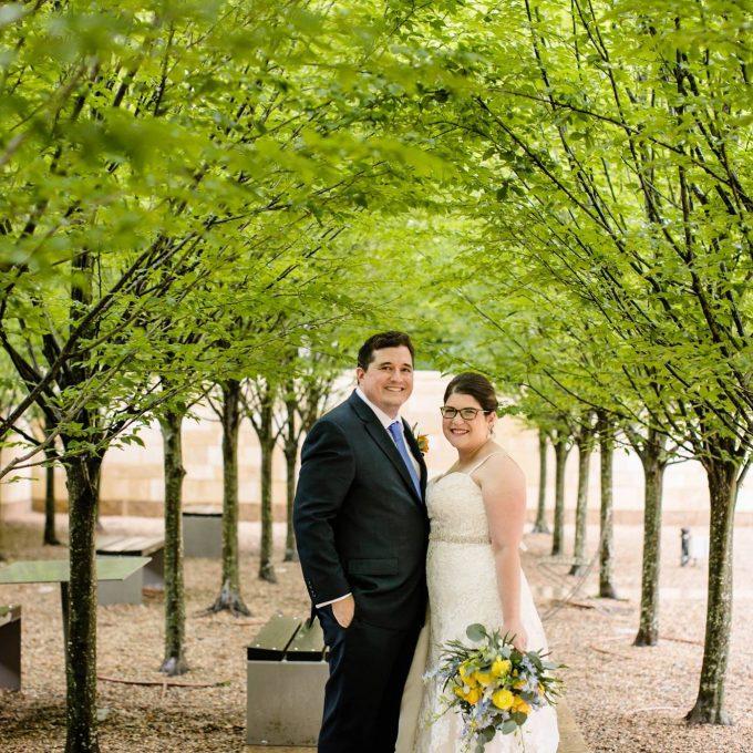 Alyssa and Ben on their wedding day
