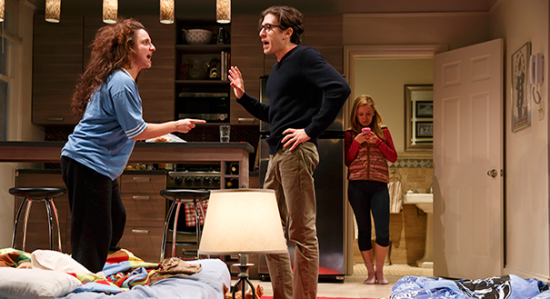 Tracee Chimo, Michael Zegen and Molly Ranson in Bad Jews. Photo by Joan Marcus.