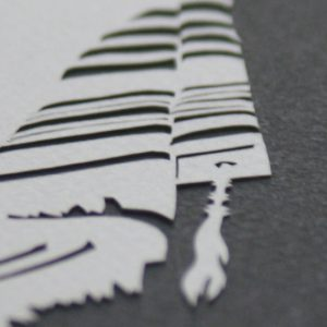 Close up of the tallis papercut, photo by Aaron Hodge Greenberg