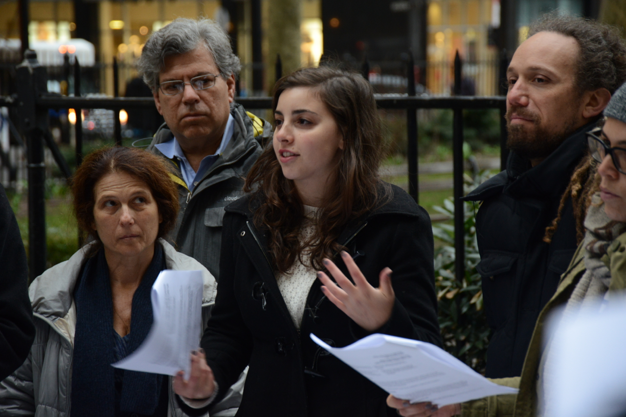 #IfNotNow Seder in the Streets outside UJA-Federation of NY, photos by Gili Getz