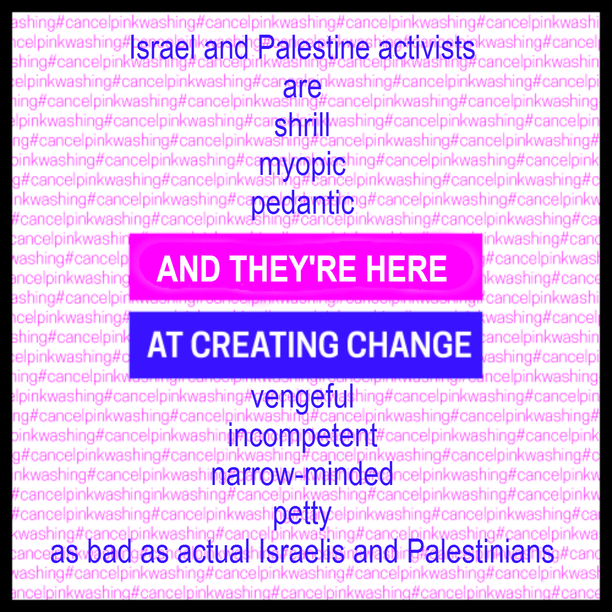 Israel and Palestinian Activists at Creating Change CC16