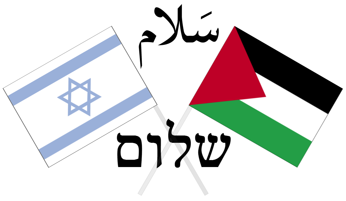 Israeli and Palestinian Flags - by Wikicommons users Westonmr and AnonMoos etc.