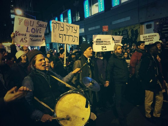 JFREJ protest against policy brutality
