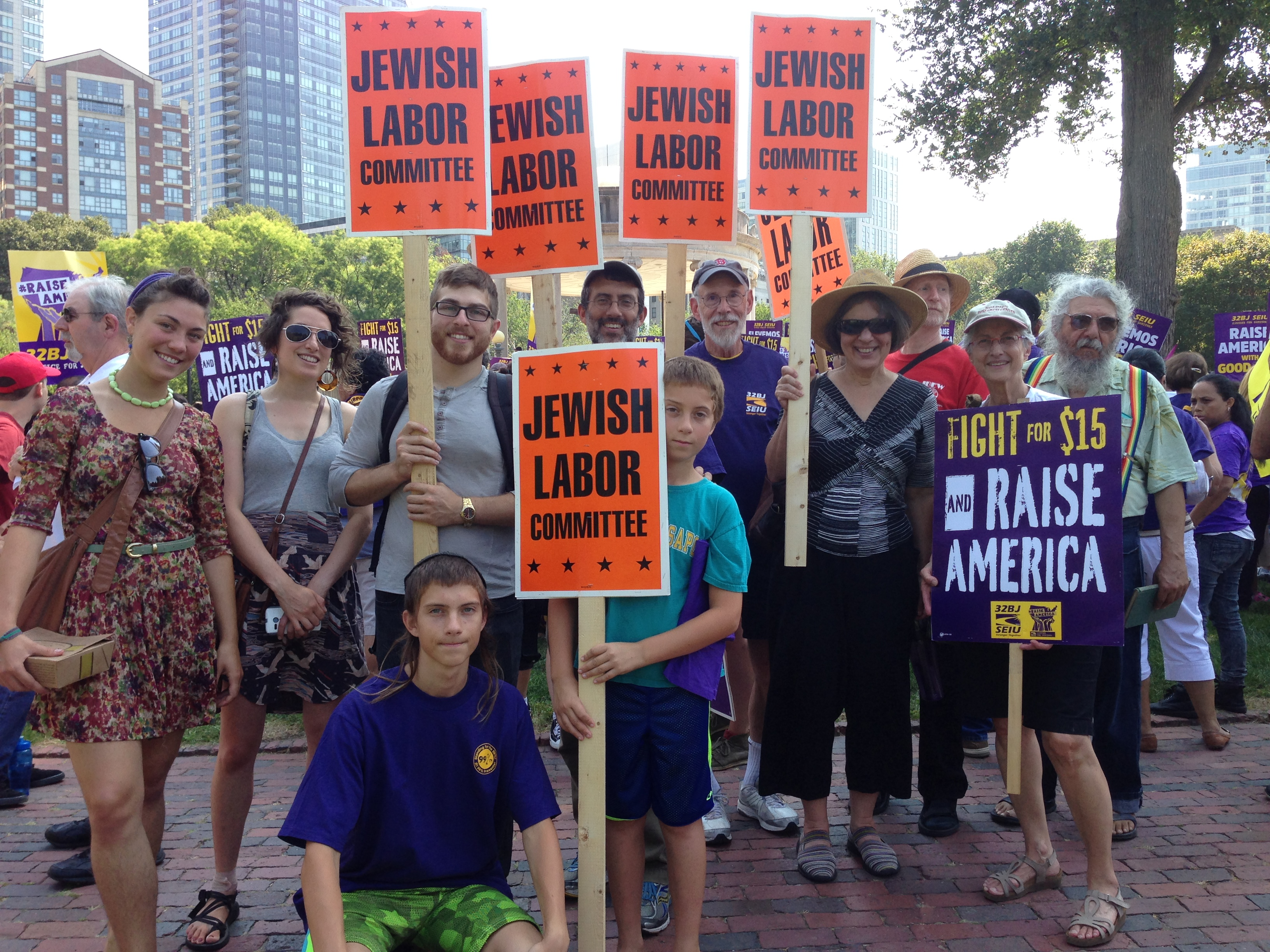 Jewish Labor Committee's Fight for $15 - Labor Day 2015