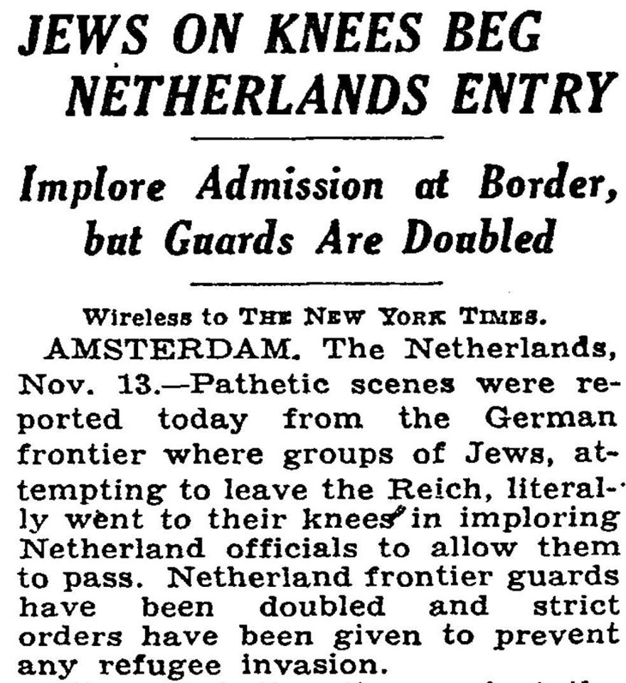 Jewish refugees in NY Times