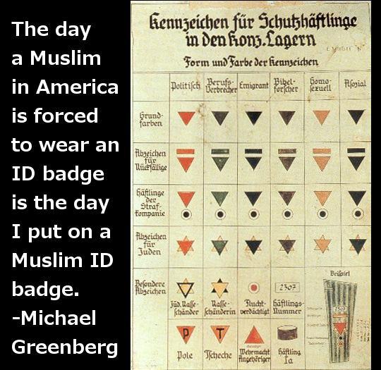 Muslim ID badges