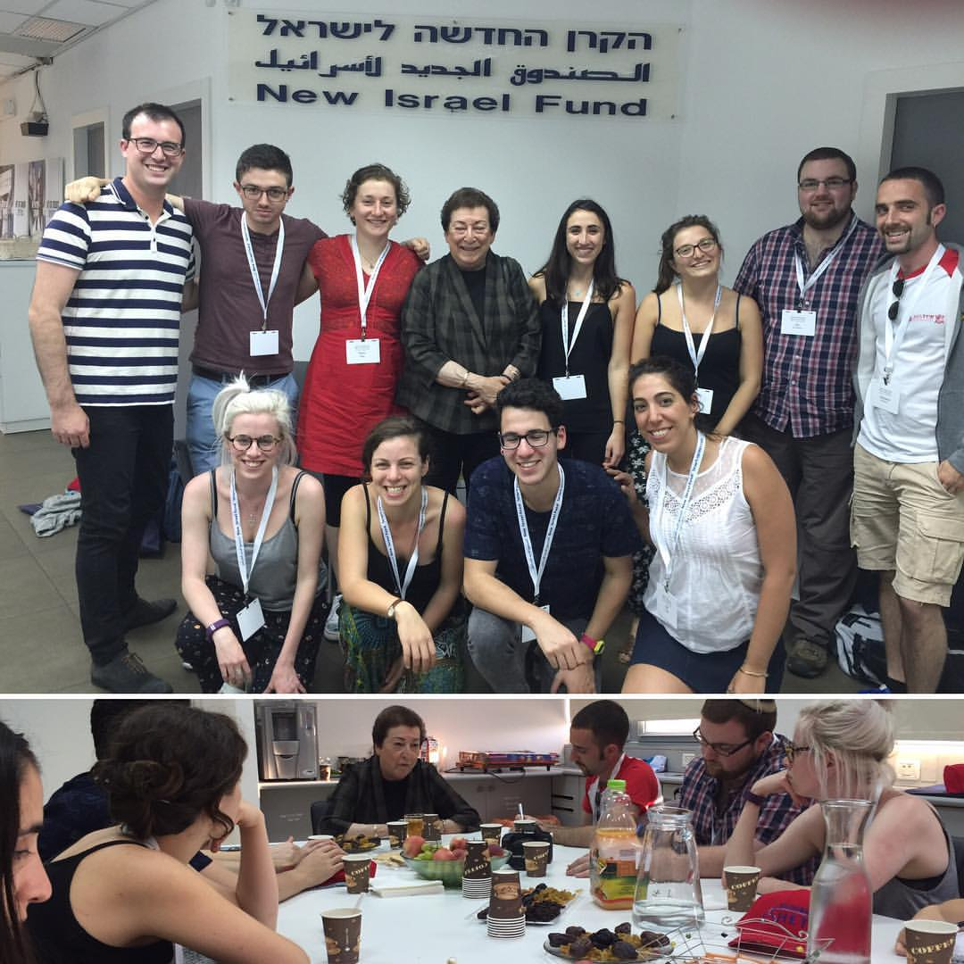 Participants from Australia and the UK in the Naomi Chazan Fellowship