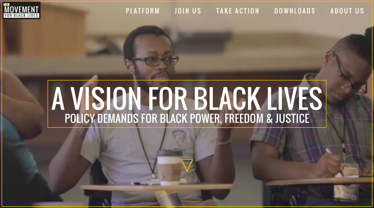 Vision for Black Lives - the #BlackLivesMatter platform
