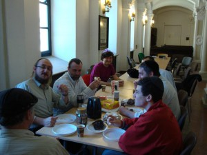 eating breakfast never felt some good. there are few veggie or kosher places in Warsaw.