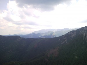 That was my view in the Carpathians. The capital of hisboydedus.