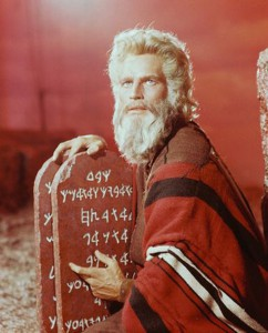 Charlton Heston in Ten Commandments as Moses