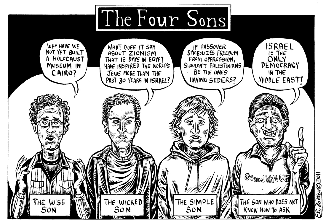 The Four Sons by Eli Valley