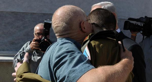 Gilad Shalit meets his father after 5 years, (c) some rights reserved, IDF