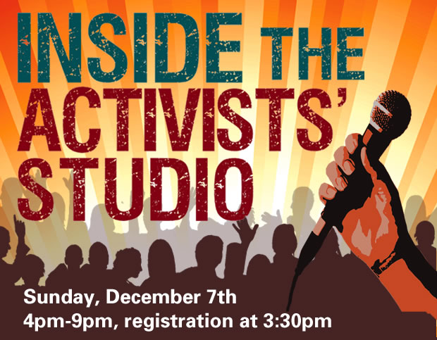 Sun, Dec 7th, 4 pm - 7 pm, NY Society for Ethical Culture, 2 W. 64th Street, $8-$18 suggested.