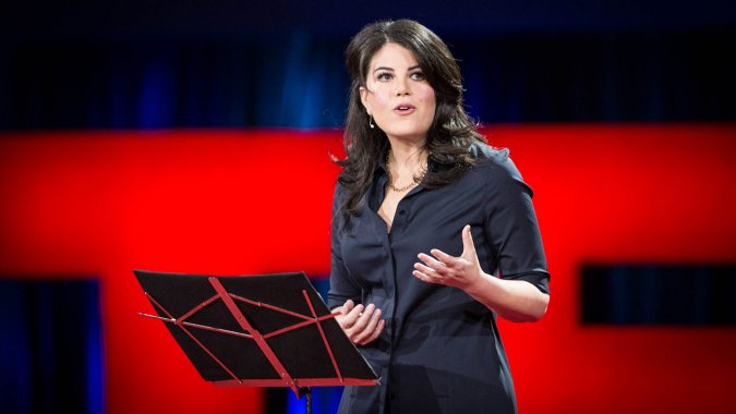 "Monica Lewinsky discusses ""The Price of Shame"" in her TED Talk"