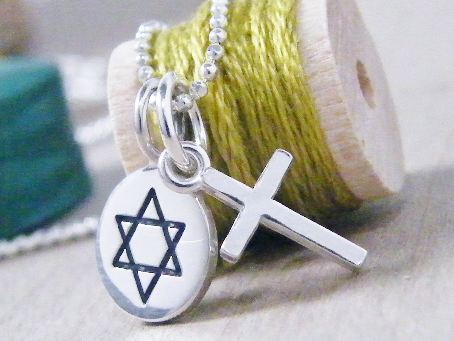 star of david and cross