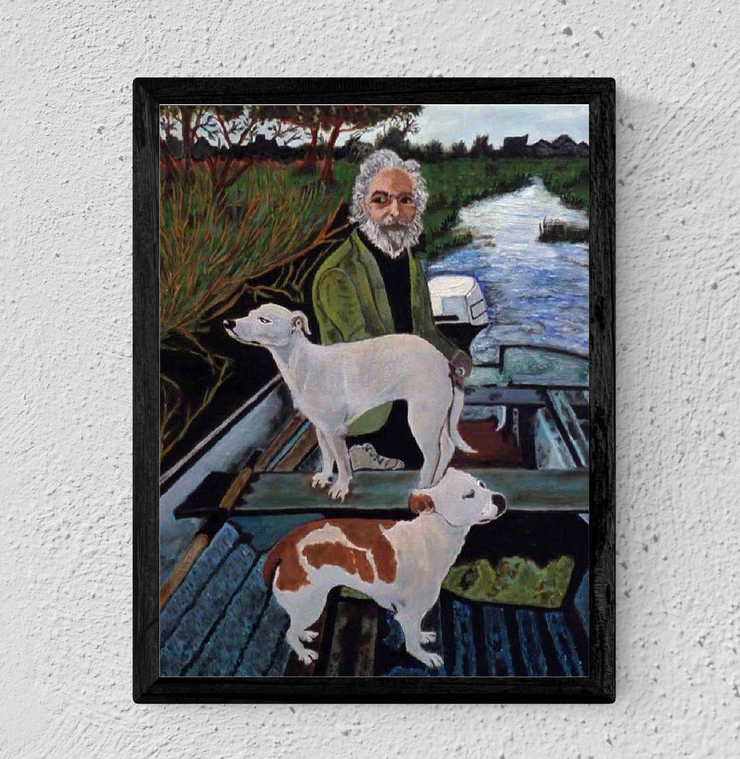 12x16 Goodfellas Movie Poster - Painting Of Old Man With Dogs Done By Tommy poster canvas