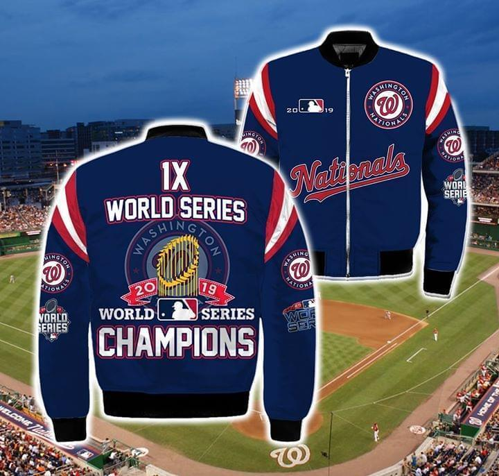 1x World Series 2019 World Series Champion Mlb Bomber 3d Printed Bomber cotton t-shirt Hoodie Mug