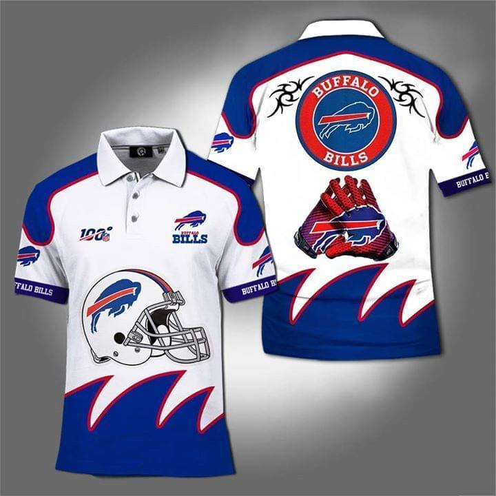100th Nfl Buffalo Bills For Football Fan Polo 3d Printed Polo cotton t-shirt Hoodie Mug