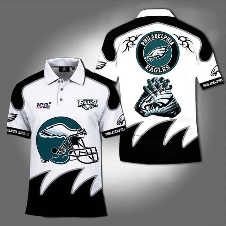 100th Philadelphia Eagles For Eagles Fan Polo 3d Printed Polo cotton t-shirt Hoodie Mug