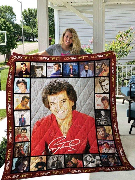 Conway Twitty Country Music Singer Signature For Fan Quilt Blanket quilt blanket